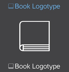 icon of book school symbol book logo vector image
