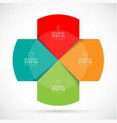 Infographic circular template vector