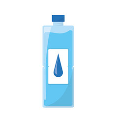 isolated water bottle vector image vector image