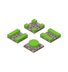 Isometric 3d land agriculture landscape vector image