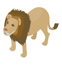 lion icon isometric style vector image vector image