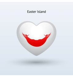Love easter island symbol heart flag icon vector