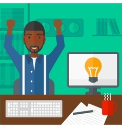 Man working at office vector
