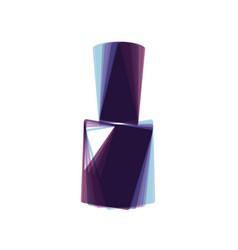 Nail polish sign colorful icon shaked vector