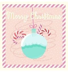 Postcard merry christmas vector