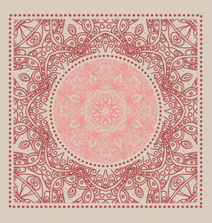 Red bandana marsala trendy color vector