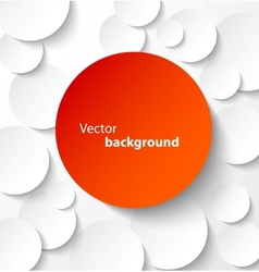 Red paper circles with drop shadows vector