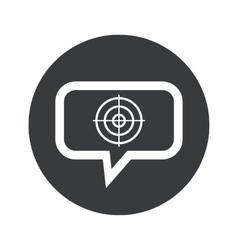 Round aim dialog icon vector