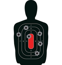 Shooting range silhouette target vector