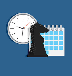 strategy time organization vector image vector image