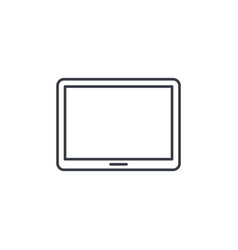 Tablet pc thin line icon linear symbol vector