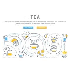 Tea web banner vector