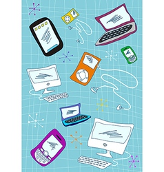 Tech devices icons set vector image