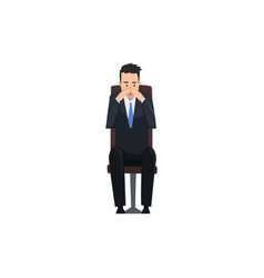 Thoughtful businessman or manager character vector