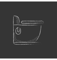 Toilet Drawn in chalk icon vector image vector image