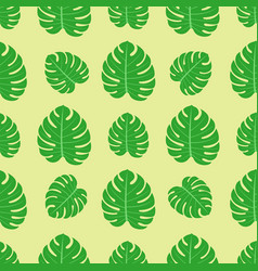 Tropical leaves summer jungle green palm leaf vector