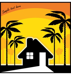 tropical resort vector image