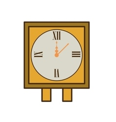 Wall clock retro isolated icon vector