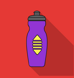 water bottle icon in flat style isolated on white vector image vector image