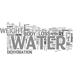 Who knew water would have this effect for dieters vector