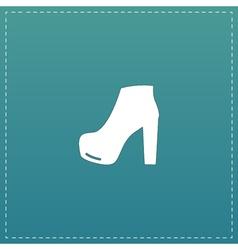 Woman shoe icon vector