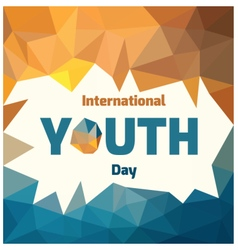 Youth day vector
