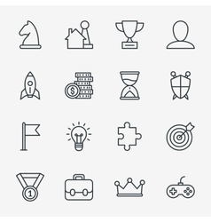 Business fun game or gamification icons vector