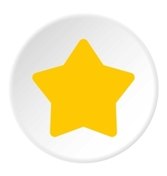 Five pointed yellow star icon flat style vector