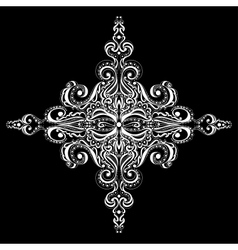 Ornamental white snowflake vector image