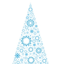 Unusual Christmas Tree vector image