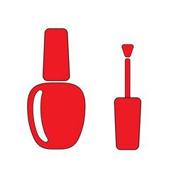 nail polish red vector image