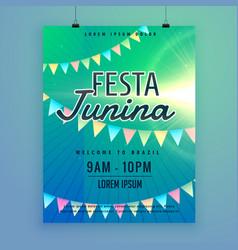 Latin american festa junina festival poster flyer vector