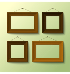 Wooden frame set vector