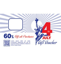 4th july discount card vector