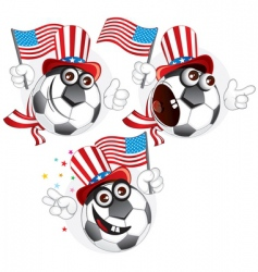 american ball vector image
