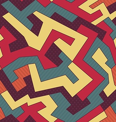 Retro curve seamless pattern vector