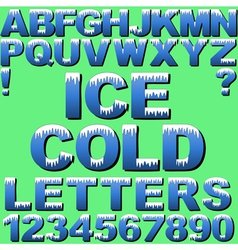 Cold letters vector