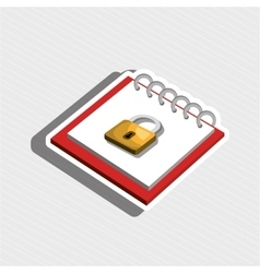 Memo pad isolated icon design vector
