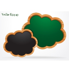 Blackboard cloud vector