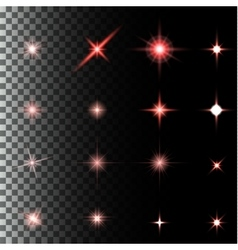 set of glow light effect stars bursts with vector image