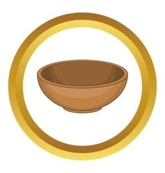 Big bowl icon vector