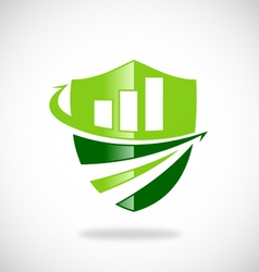 business finance shield logo vector image vector image