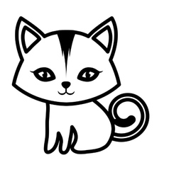 Cat small mammal furry outline vector