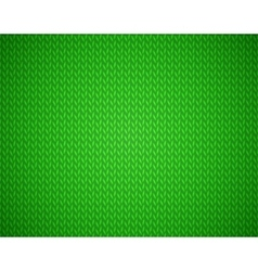 Christmas green background with knit texture vector image vector image