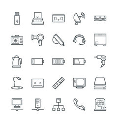 Electronic cool icons 4 vector