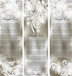 elegant banners vector image vector image