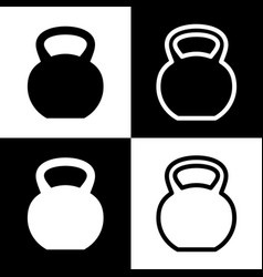 fitness dumbbell sign black and white vector image vector image
