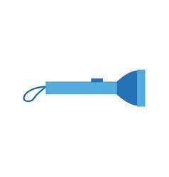 flashlight battery led bulb energy lamp vector image