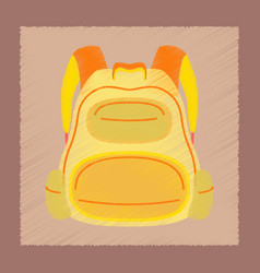 Flat shading style icon school fashionable bag vector