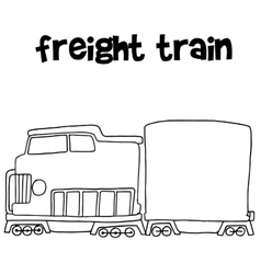 Freight train of transportation vector